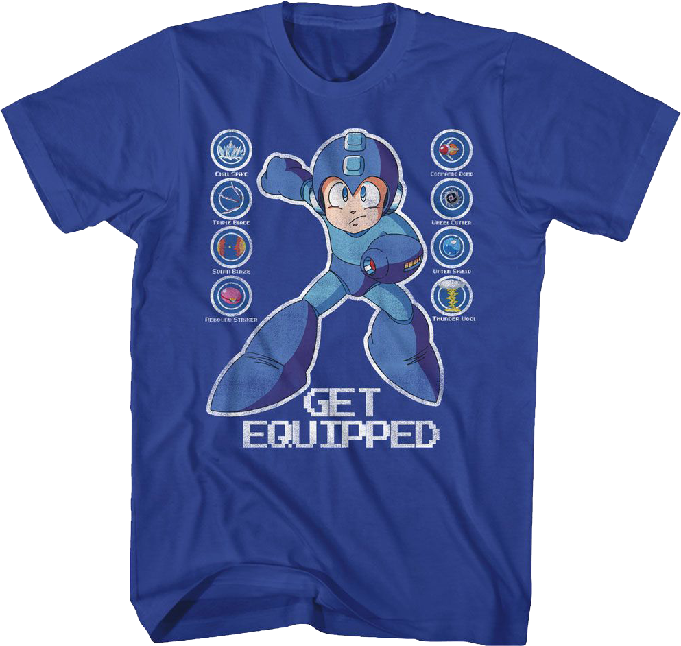 Mega Man Toddler Boys Kids Short Sleeve T-Shirt Vintage Royal Squad Graphic Tee