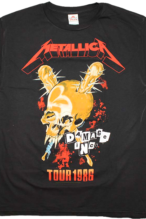 Damage Inc Tour 1986 Metallica T-Shirt