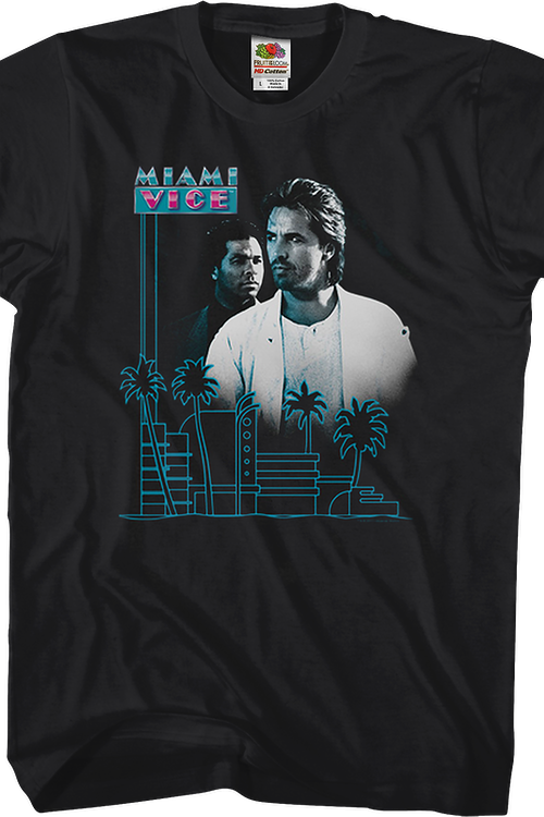 Palm Trees Miami Vice T-Shirt