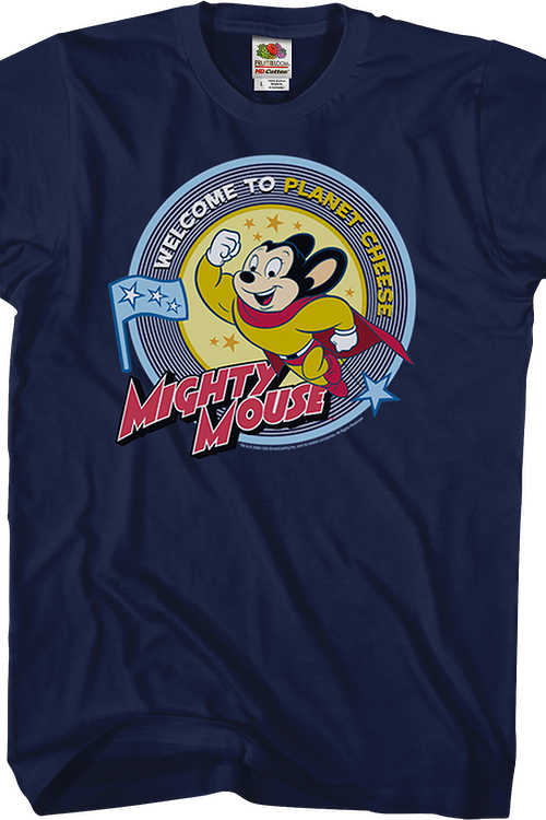 Planet Cheese Mighty Mouse T-Shirt