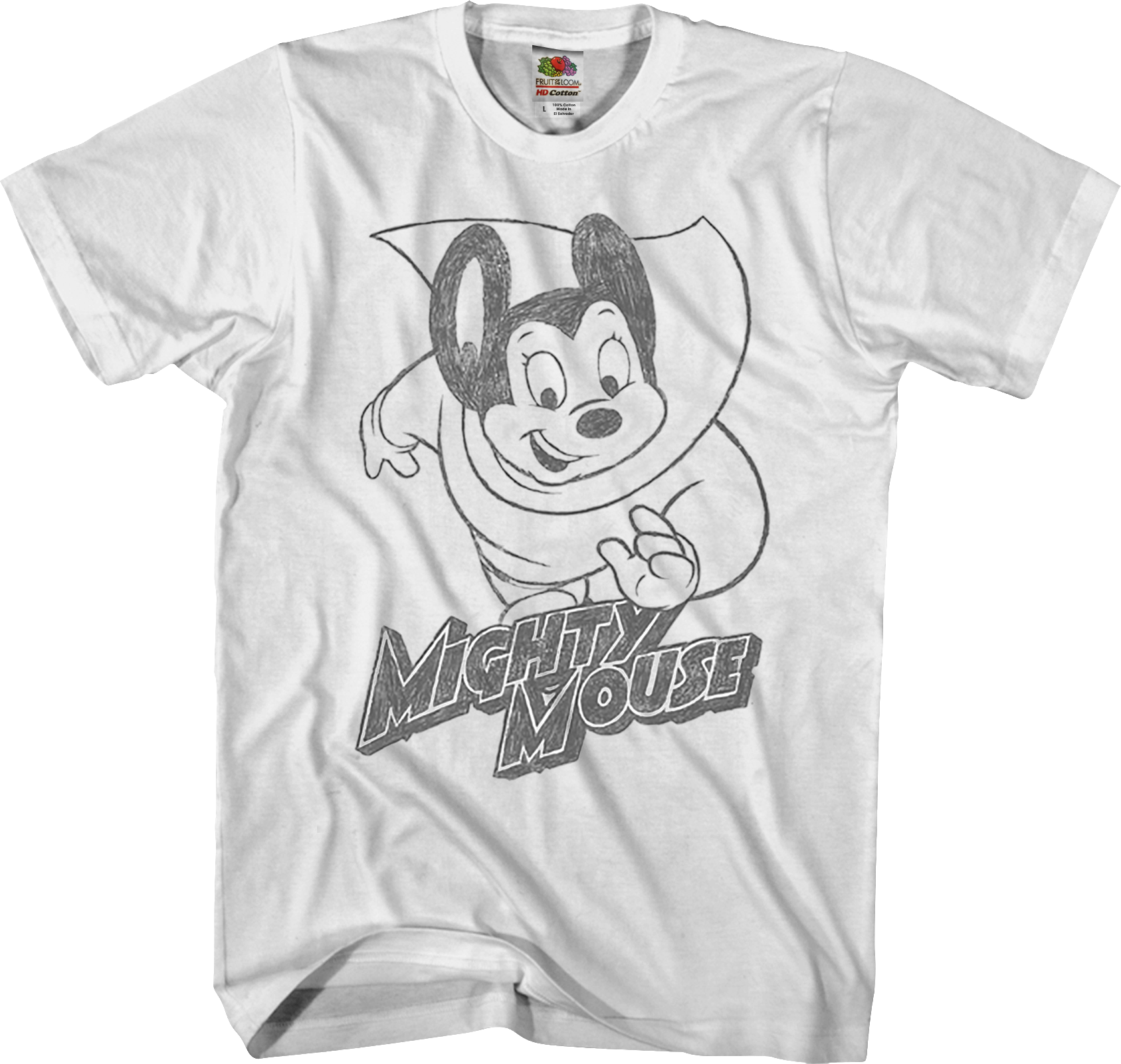 Shirts Mighty Mouse Mighty Hero Lightning Bolt Long Sleeve T Shirt S 3xl Mealis Info