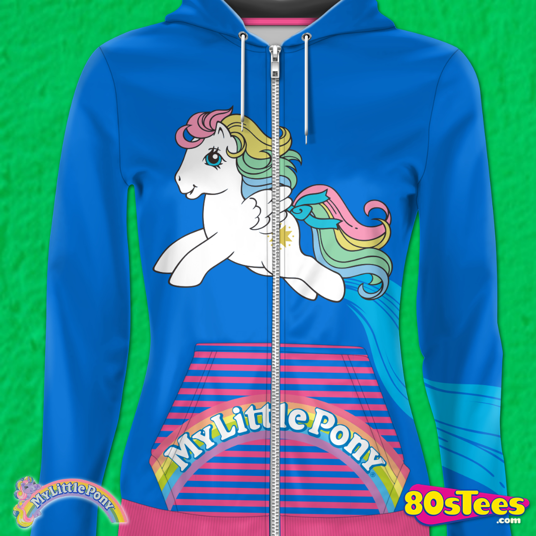 Hooded Sweater Ladies Navy Blue Official My Little Pony I Want a Pony  Hoodie