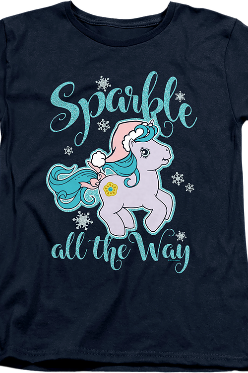 Womens Sparkle All The Way My Little Pony Shirt