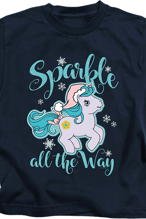 Youth Sparkle All The Way My Little Pony Shirt