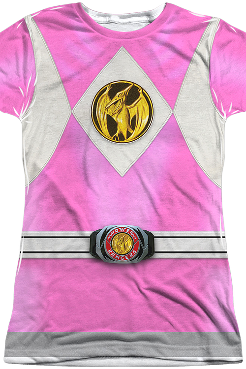 Ladies Pink Ranger Sublimation Shirt