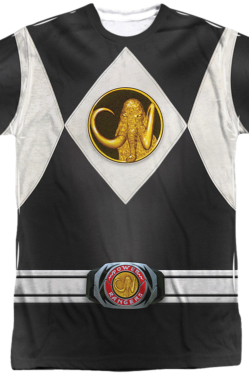 Black Ranger Sublimation Costume Shirt
