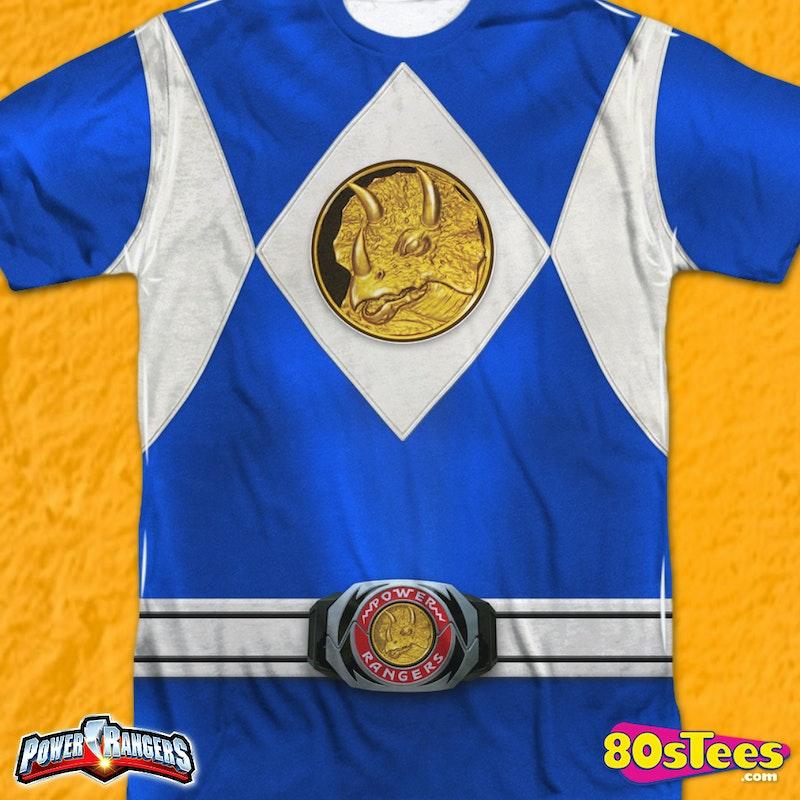 promo code ee923 7163b Blue Ranger Sublimation Costume Shirt