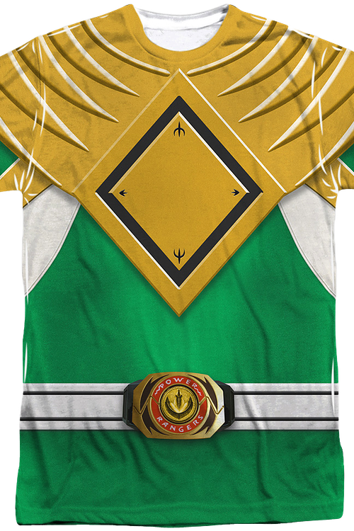 Green Ranger Sublimation Costume Shirt