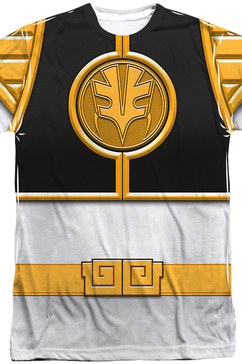 6ee90d731 Mighty Morphin Power Rangers White Ranger Sublimation Costume Shirt