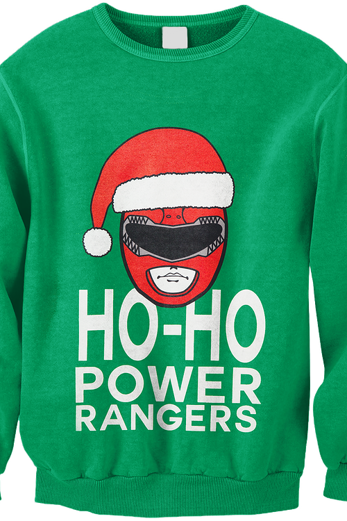 Ho Ho Power Rangers Christmas Faux Ugly Sweater