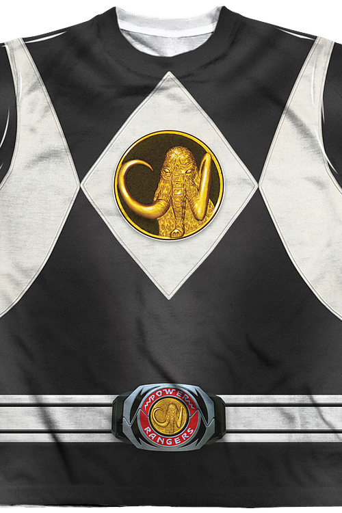 Youth Black Ranger Sublimation Costume Shirt