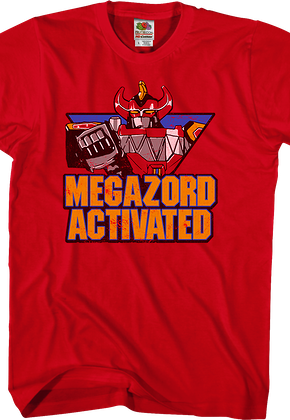 Megazord Activated Mighty Morphin Power Rangers T-Shirt