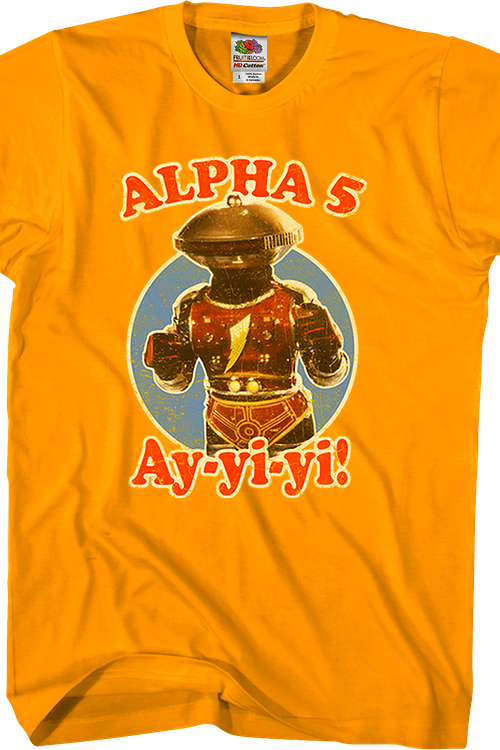 Alpha 5 Mighty Morphin Power Rangers T-Shirt