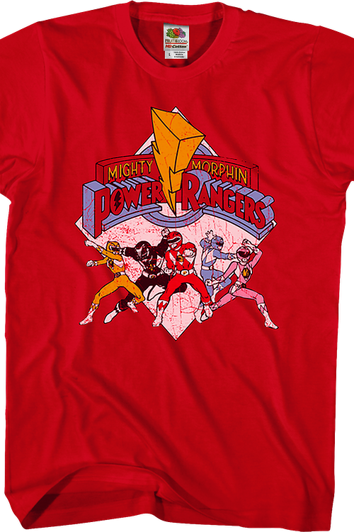 Distressed Mighty Morphin Power Rangers T-Shirt