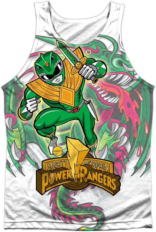 Dragonzord Mighty Morphin Power Rangers Tank Top
