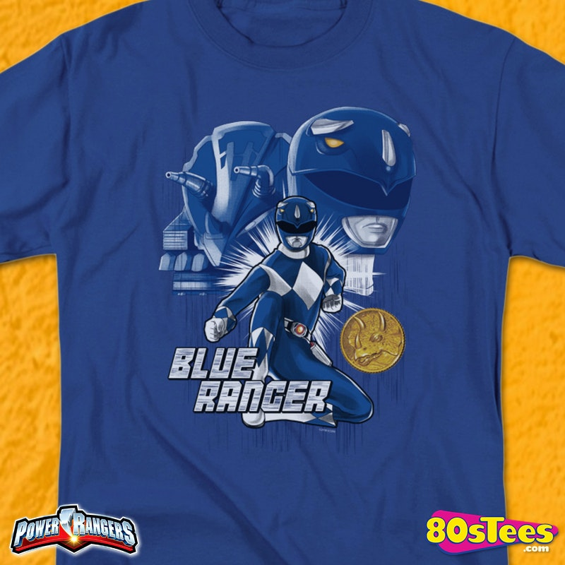 buy popular 6b80f 35f42 Blue Ranger Mighty Morphin Power Rangers T-Shirt