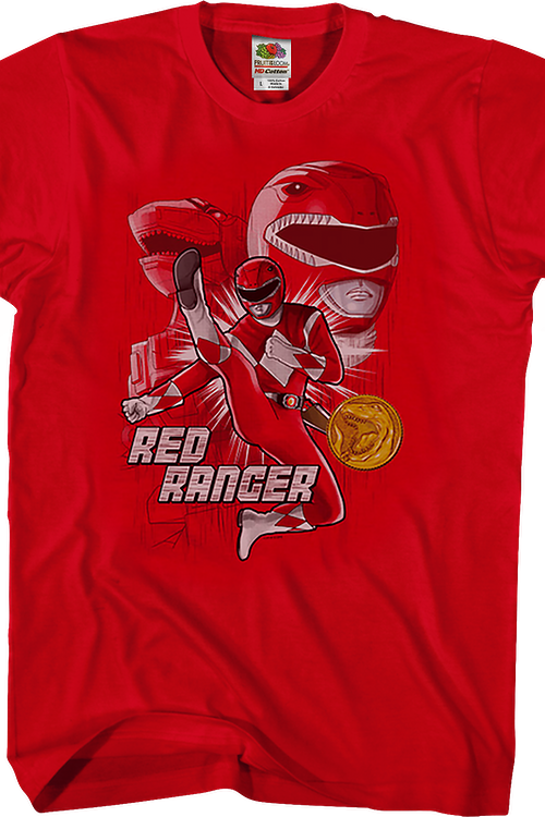Red Ranger Mighty Morphin Power Rangers T-Shirt