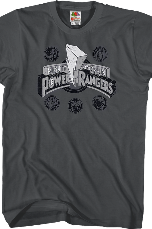 Distressed Logo Mighty Morphin Power Rangers T-Shirt