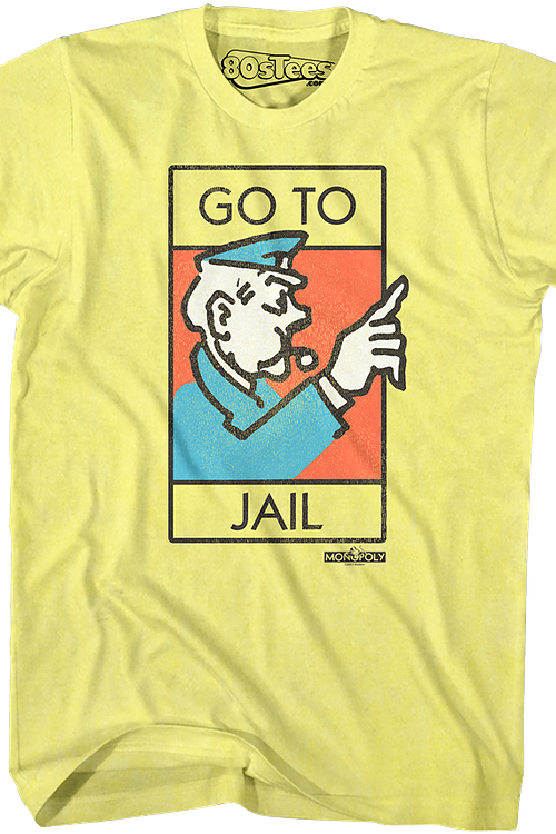 18407996 Monopoly Go To Jail Shirt: Monopoly Mens T-Shirt
