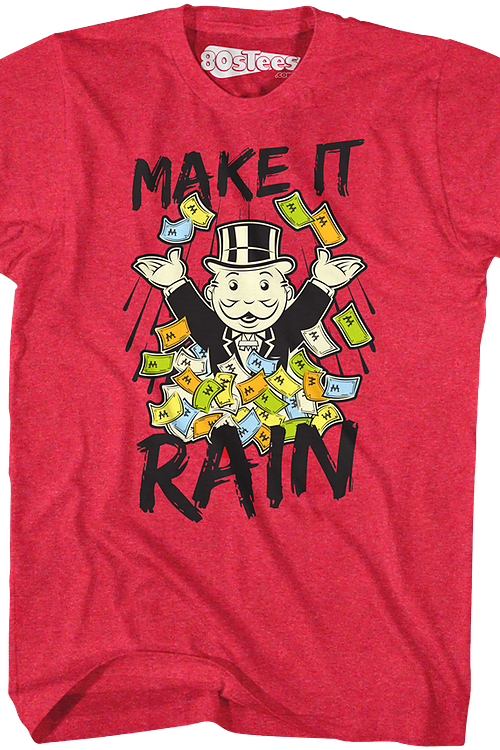 de421ac4 Make It Rain Monopoly Shirt: Monopoly Mens T-Shirt