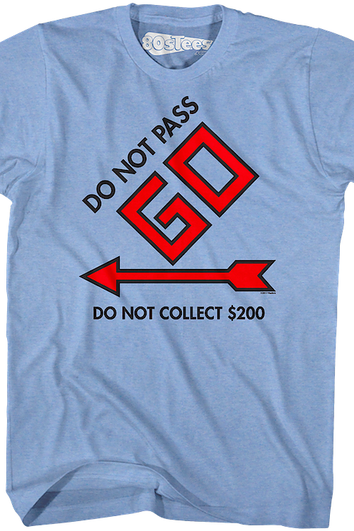7703ed4c Do Not Pass Go Monopoly T-Shirt: Monopoly Mens T-Shirt