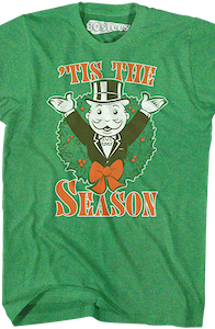 Pennybags Monopoly Christmas T-Shirt