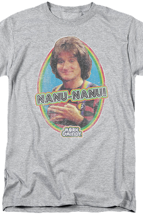 Distressed Nanu Nanu Mork and Mindy T-Shirt