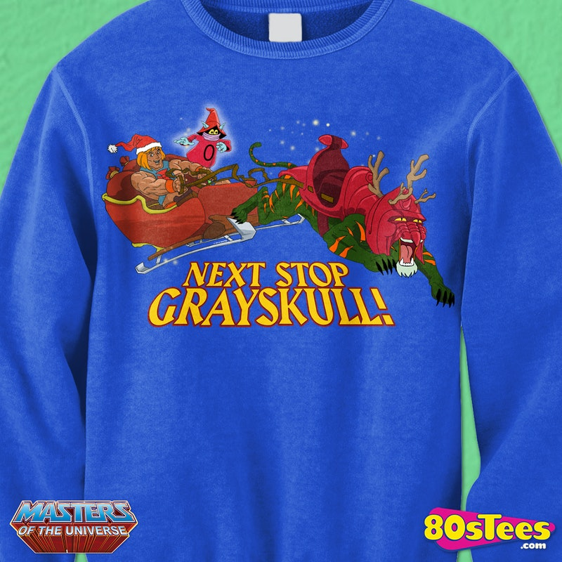 Masters of the Universe He Man Faux Ugly Christmas Sweater