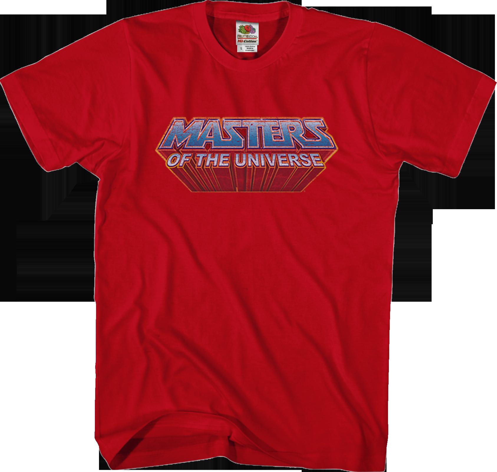 MASTER LOGO I T-SHIRT Masters Anime Series of the He Battle Cat Universe Man