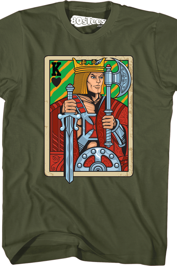 He-Man King Adam Playing Card T-Shirt
