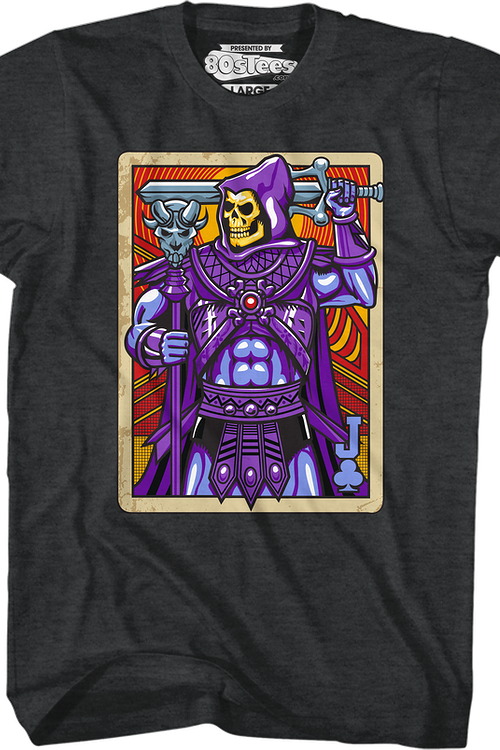 Skeletor Joker Playing Card T-Shirt