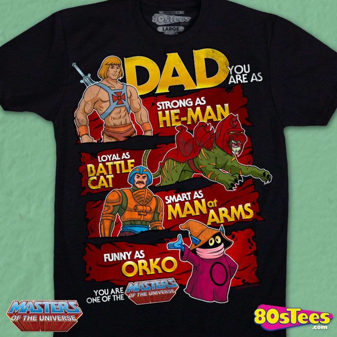 He man masters of the universe retro t shirt mens top 80/'s cartoon clasic tee