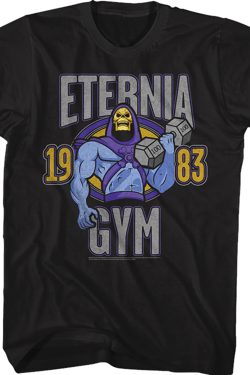 Skeletor Eternia Gym Masters of the Universe T-Shirt