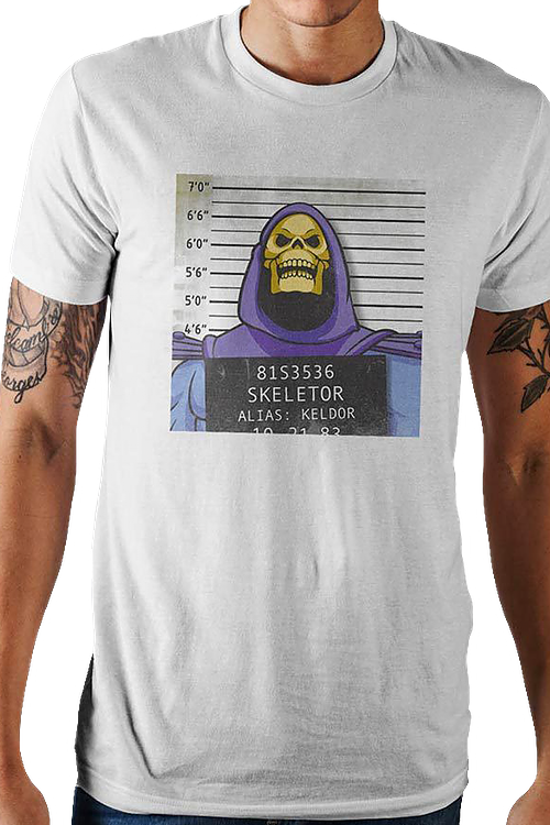 Skeletor Mug Shot Masters of the Universe T-Shirt