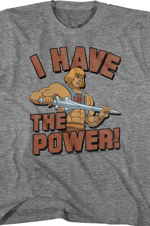 Youth He-Man I Have the Power Masters of the Universe Shirt