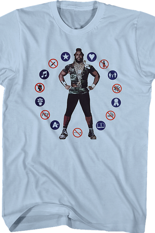 Circle of Symbols Mr. T Shirt