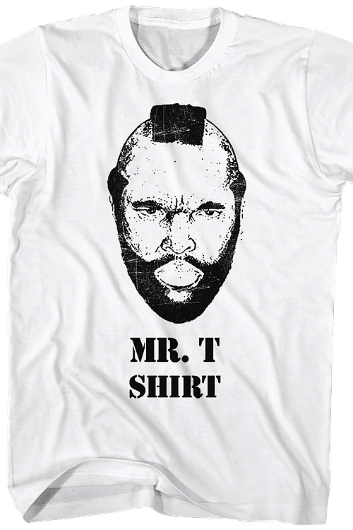Black and White Mr. T Shirt