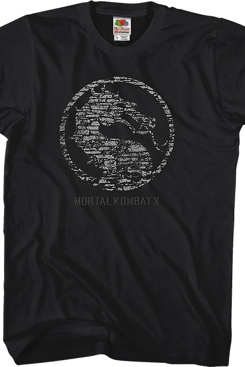 Distressed Logo Mortal Kombat X T-Shirt