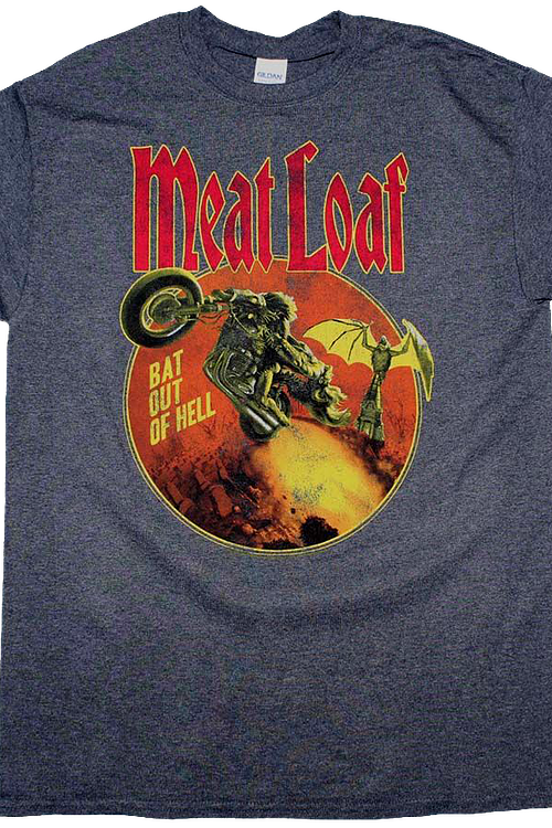 9bf47a6de Bat Out Of Hell Meat Loaf T-Shirt: Meat Loaf Mens T-Shirt