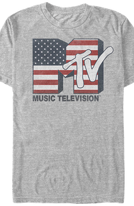 American Flag Logo MTV Shirt