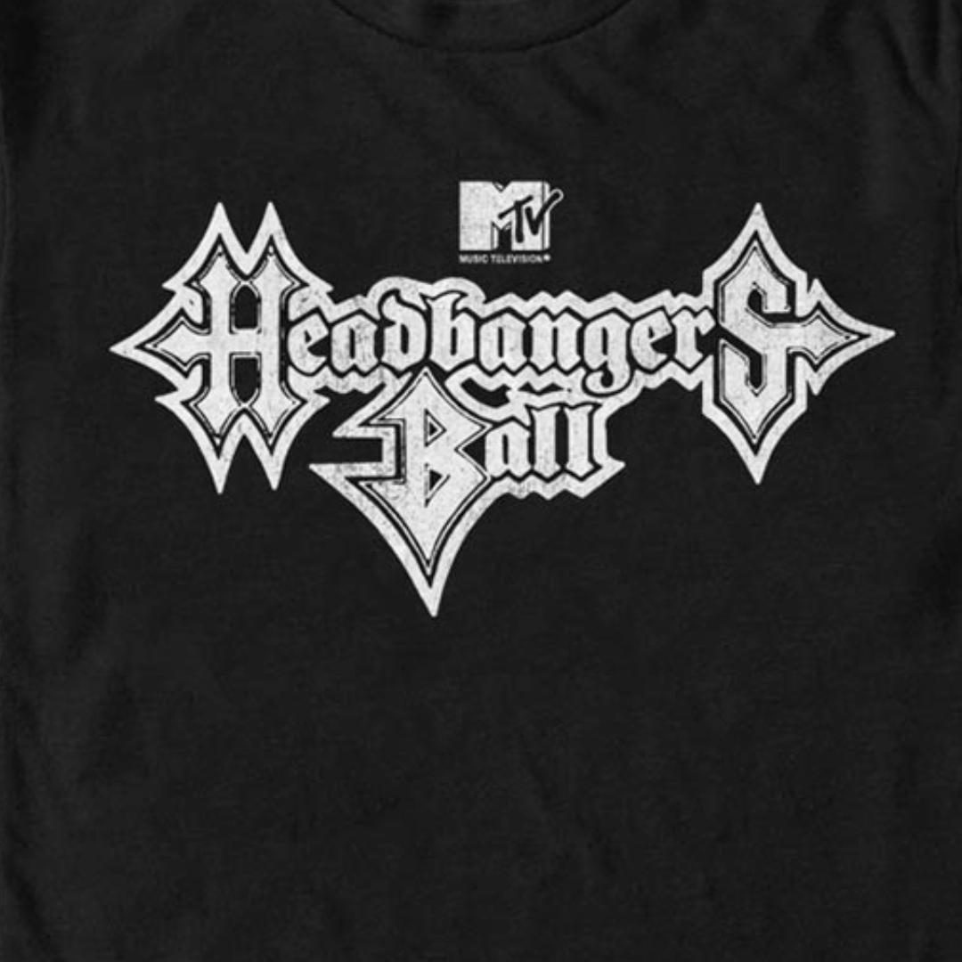 new HEADBANGERS BALL logo TV Show Classic Rock Mens T Shirt S to 4XLT