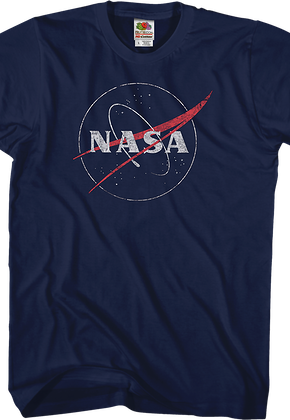 Distressed Logo NASA T-Shirt