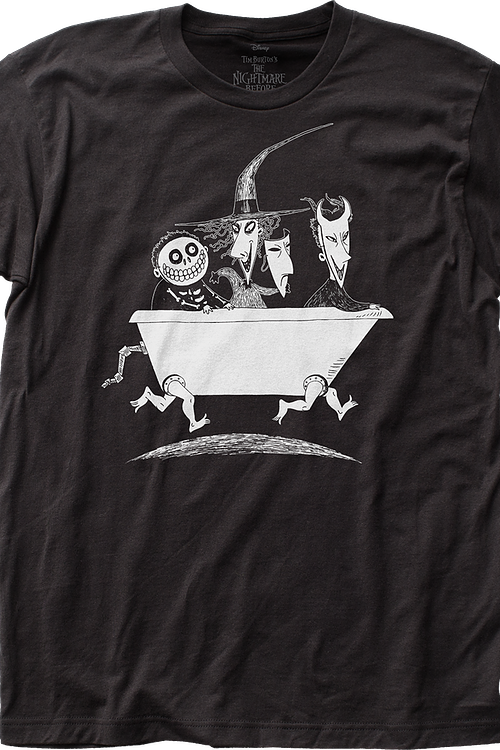 Walking Bathtub Nightmare Before Christmas T-Shirt