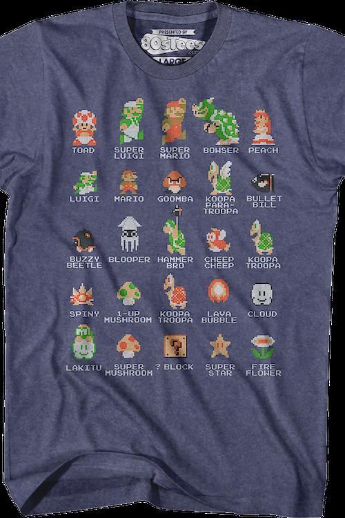 Cast Of Super Mario Bros Shirt Nintendo Super Mario Bros Mens T Shirt