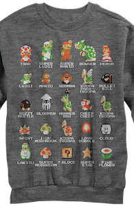 Cast of Super Mario Bros Sweatshirt