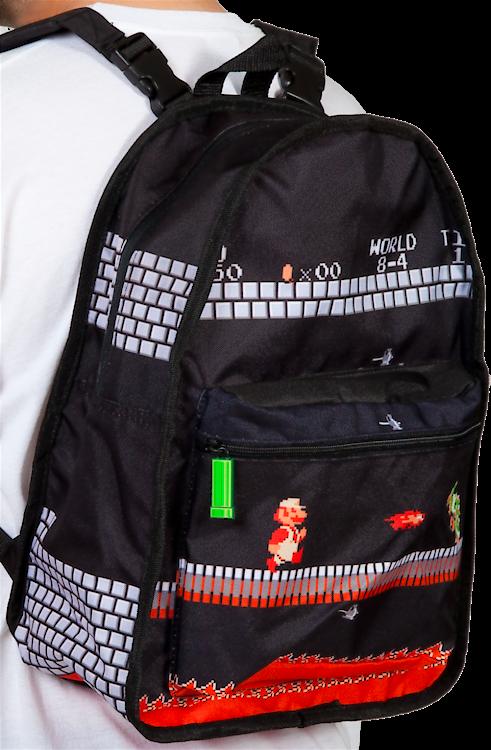 0272747631 Nintendo Super Mario Reversible Backpack  World 1-1 and 8-4