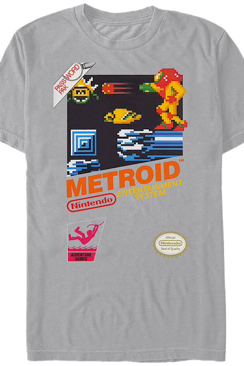 46e712abc Cartridge Metroid T-Shirt: Nintendo Mens T-Shirt