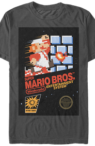 Gray Super Mario Cartridge Shirt