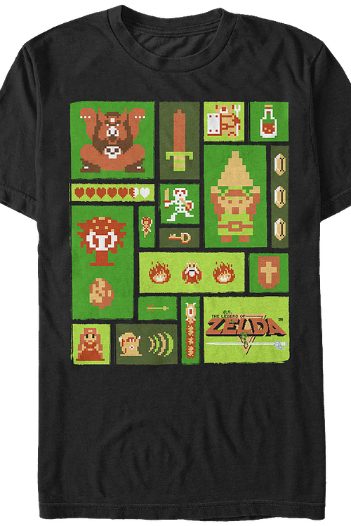 b2c743a3 Legend of Zelda Collage T-Shirt: Legend of Zelda Mens T-Shirt