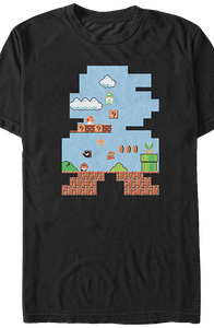 Shape of Super Mario T-Shirt